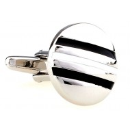 Black And White Round Cufflinks