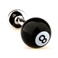 Black Billiard Eight Ball Cufflinks