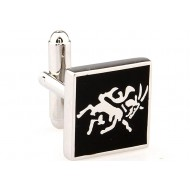 Black Square Horse Cufflinks