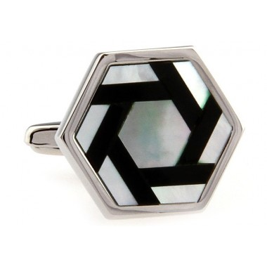 Black And White Mother Of Pearl Cufflinks