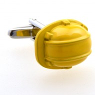 Yellow Helmet Cufflinks