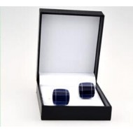 Black Leather Cufflink Box