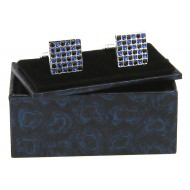 Blue Flower Cufflink Box