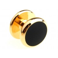 Black and Gold Round Cufflinks