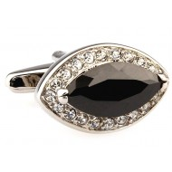 Black and Silver Diamond Cufflinks